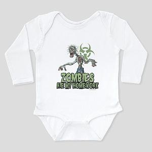 Zombies Ate My Homework Long Sleeve Infant Bodysui