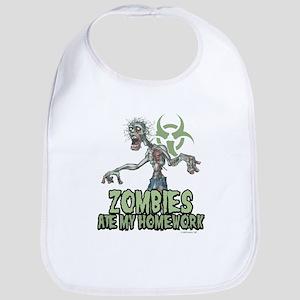 Zombies Ate My Homework Bib