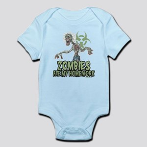 Zombies Ate My Homework Infant Bodysuit