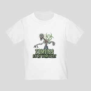 Zombies Ate My Homework Toddler T-Shirt