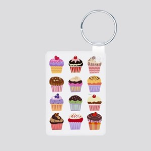 Dozen of Cupcakes Aluminum Photo Keychain