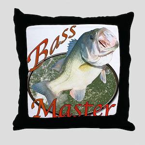 Bass master Throw Pillow
