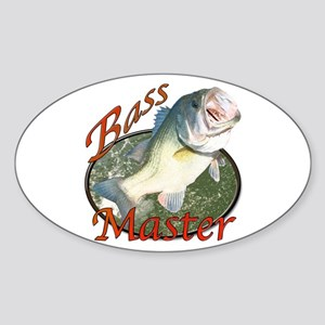 Bass master Sticker (Oval)