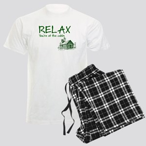 Relax Cabin Cottage Men's Light Pajamas