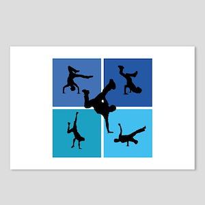 Nice various breakdancing Postcards (Package of 8)