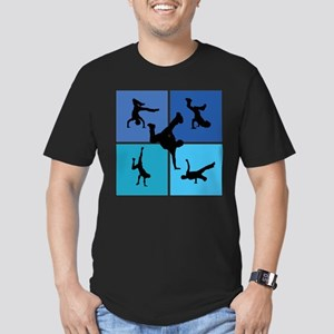 Nice various breakdancing Men's Fitted T-Shirt (da