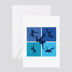 Nice various breakdancing Greeting Card