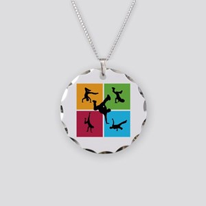 Nice various breakdancing Necklace Circle Charm