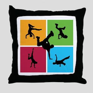 Nice various breakdancing Throw Pillow