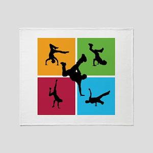 Nice various breakdancing Throw Blanket