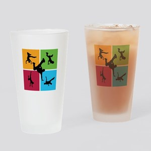 Nice various breakdancing Drinking Glass