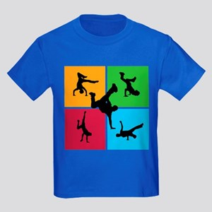 Nice various breakdancing Kids Dark T-Shirt