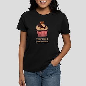 PERSONALIZE Chocolate Cupcake Women's Dark T-Shirt