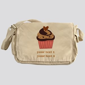 PERSONALIZE Chocolate Cupcake Messenger Bag
