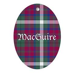 Tartan - MacGuire Ornament (Oval)