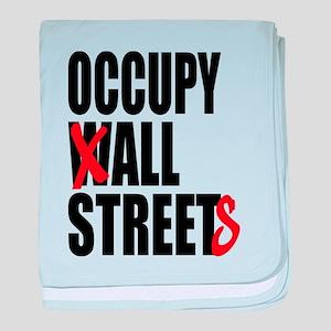 Occupy Graffiti Logo baby blanket