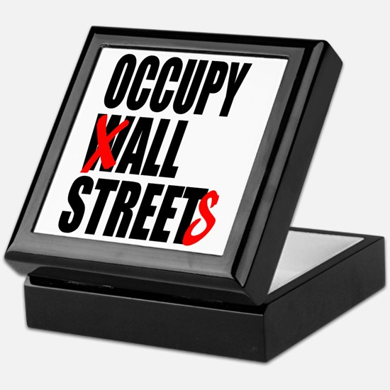 Occupy Graffiti Logo Keepsake Box