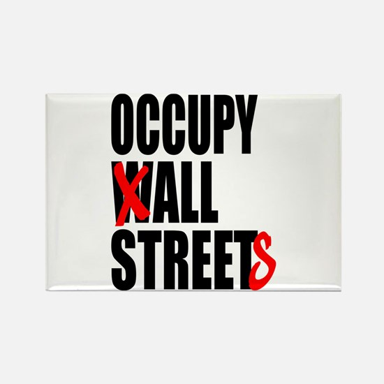 Occupy Graffiti Logo Rectangle Magnet