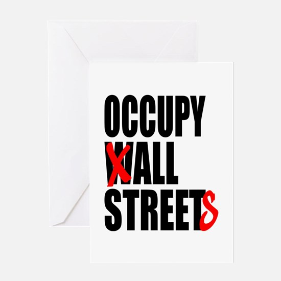 Occupy Graffiti Logo Greeting Card