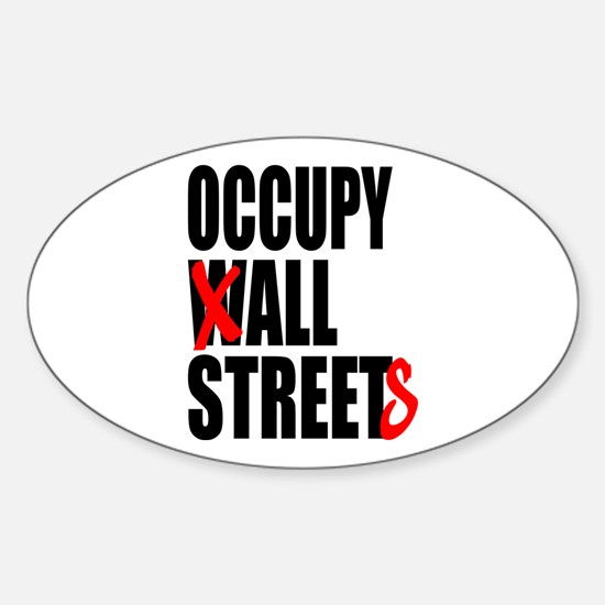 Occupy Graffiti Logo Sticker (Oval)