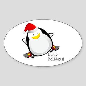 Tappy Holidays! by DanceShirts.com Sticker (Oval)