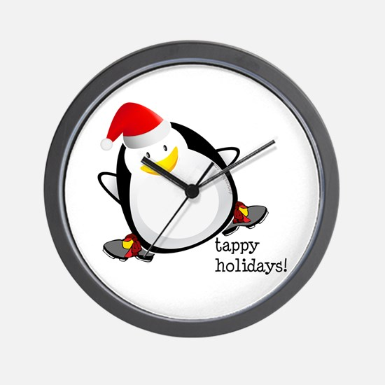 Tappy Holidays! by DanceShirts.com Wall Clock