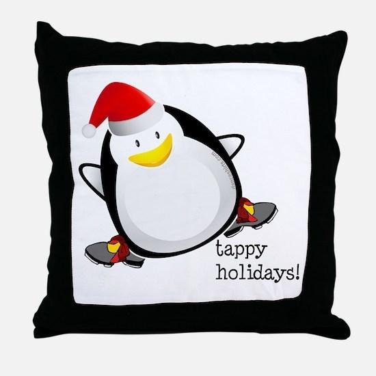 Tappy Holidays! by DanceShirts.com Throw Pillow