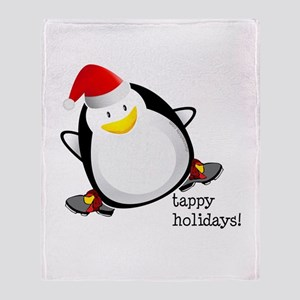 Tappy Holidays! by DanceShirts.com Throw Blanket