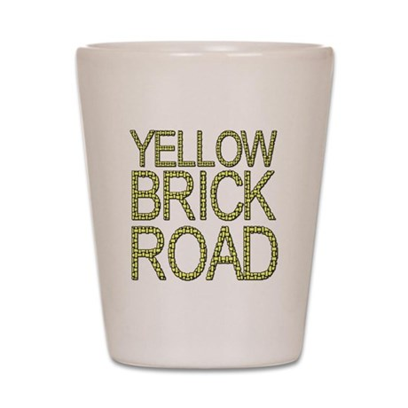 The Yellow Brick Road Wizard of Oz Shot Glass