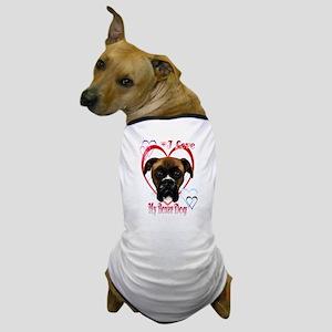 I Love My Boxer Dog Dog T-Shirt