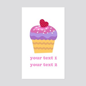 PERSONALIZE Fruit Cupcake Sticker (Rectangle)
