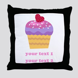 PERSONALIZE Fruit Cupcake Throw Pillow