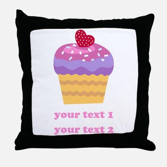 PERSONALIZE Fruit Cupcake Throw Pillow