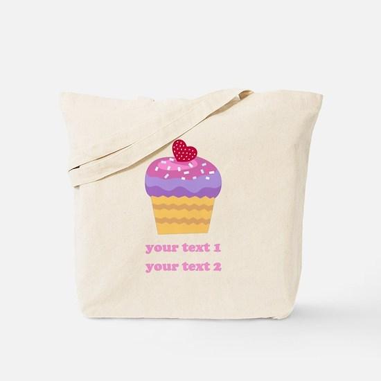PERSONALIZE Fruit Cupcake Tote Bag