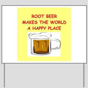 root beer Yard Sign