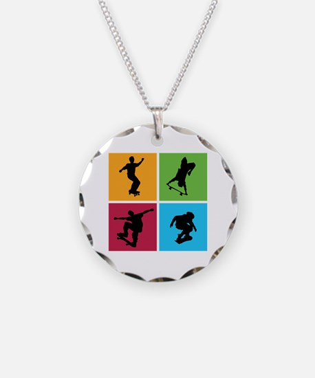 Nice various skating Necklace Circle Charm