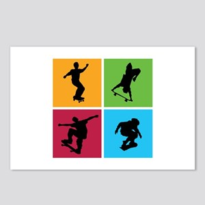 Nice various skating Postcards (Package of 8)