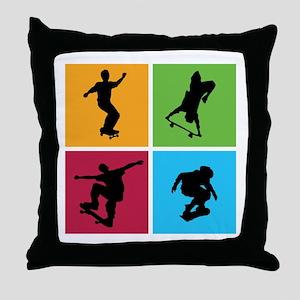 Nice various skating Throw Pillow