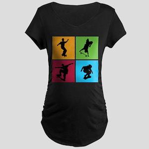 Nice various skating Maternity Dark T-Shirt