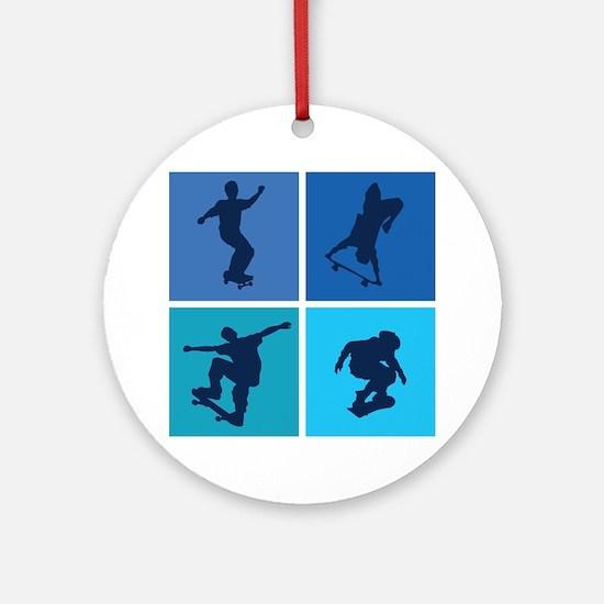 Nice various skating Ornament (Round)