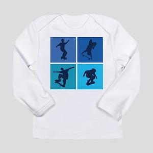 Nice various skating Long Sleeve Infant T-Shirt