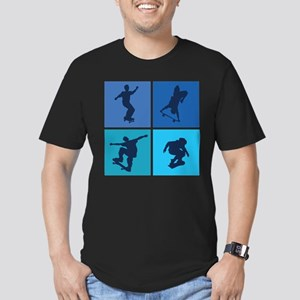Nice various skating Men's Fitted T-Shirt (dark)
