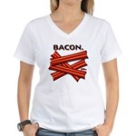 Bacon! Women's V-Neck T-Shirt