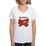Bacon! Women's V-Neck T-Shirt