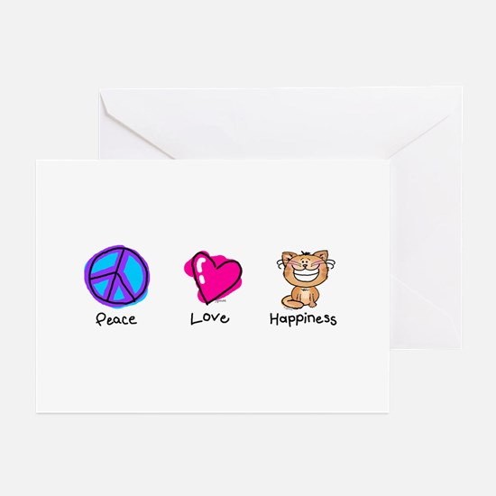 Peace Love and Cats Greeting Cards (Pk of 10)