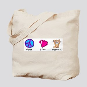 Peace Love and Cats Tote Bag