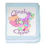 Qinzhou China Map baby blanket