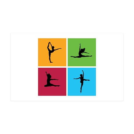 Nice various dancing 38.5 x 24.5 Wall Peel