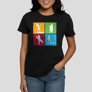 various surfing girls Women's Dark T-Shirt