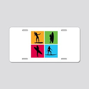 various surfing girls Aluminum License Plate